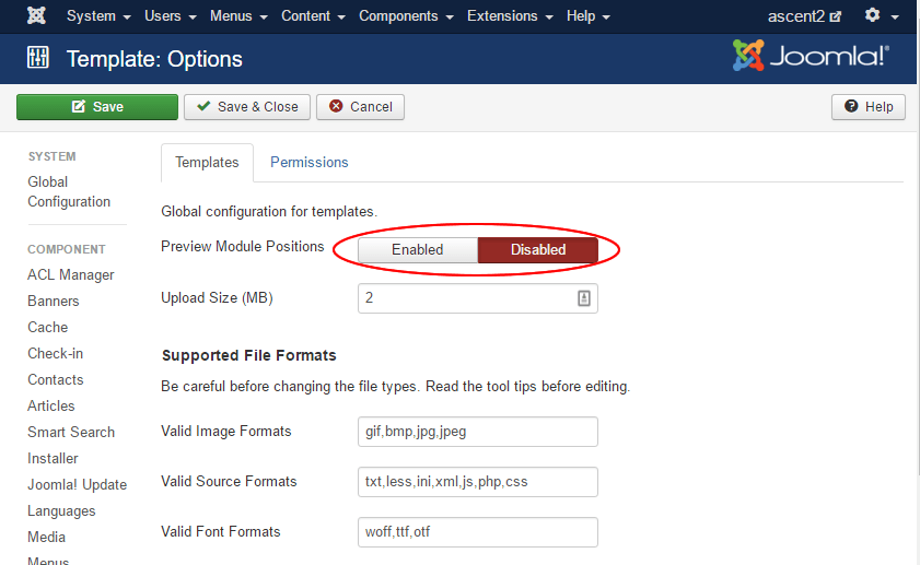 How to edit different file types through the Joomla template ...