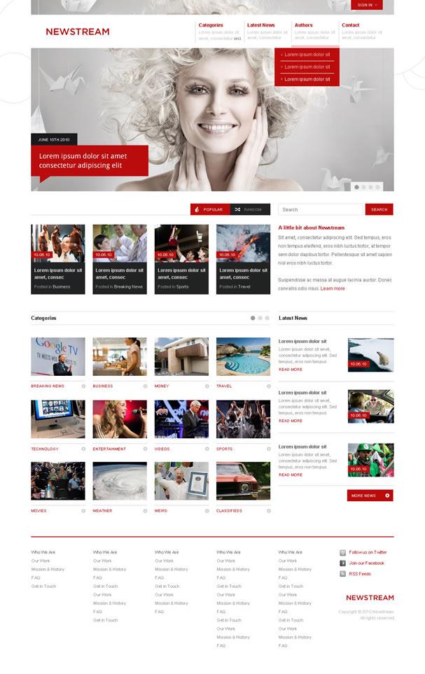News Portal Joomla Template for July | Joomlabamboo Blog